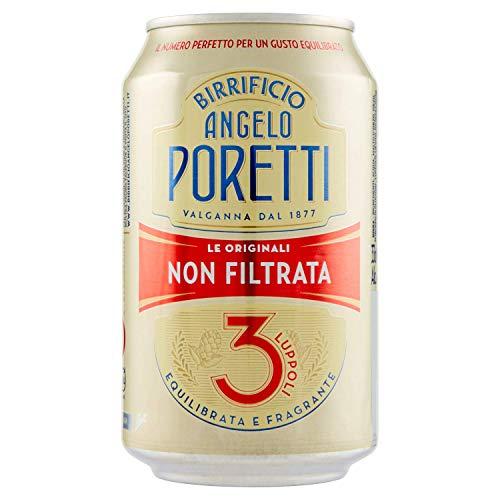 24x Birra Angelo Poretti Le originali non filtrata dosen originale Bier 33 cl 4.9% Vol 3 Hopfen