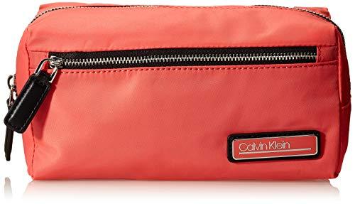 Calvin Klein Primary Washbag, Organiseurs de sacs à main femme, Rouge (Coral), 1x1x1 cm (W x H L)