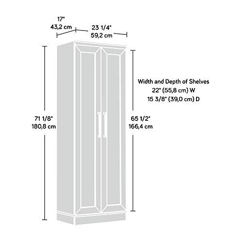 Sauder 411985 HomePlus Storage Cabinet, L: 23.31 x W: 17.01 x H: 71.18, Dakota Oak finish