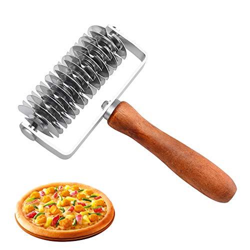 Tagliapasta a rullo in acciaio inossidabile, Rotella Tagliapasta Rullo a griglia per pizza Taglierina a rullo per Decorazione di Cottura, Artigianato, Strumento di Cottura, Ristorante