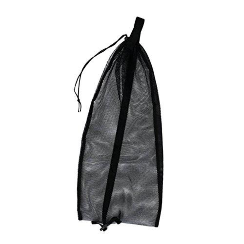 Baoblaze Netzbeutel Netztasche Tragetasche Mesh Sporttasche Flossentasche für Tauchen Schwimmen Ausrüstung, wie Flossen, Schnorchel, Tauchbrille, Tauchermaske zu tragen - Schwarz