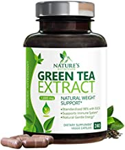 Green Tea Extract 98% Standardized Egcg for a Healthy Body 1000mg - Supports Healthy Heart, Metabolism & Energy with Polyphenols - Gentle Caffeine, Made in USA - 240 Capsules