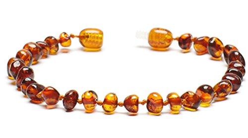 Bernsteinarmband – Bernsteinfußkettchen - 100% Baltischer Bernstein poliert - Bernsteinschmuck - Bernstein Perlen echt