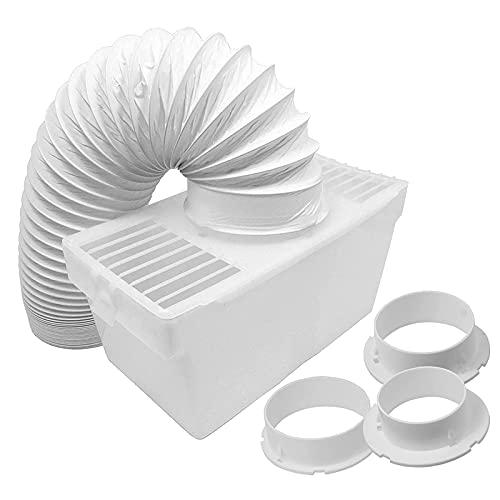 SPARES2GO Kit de condensador de manguera de ventilación universal con 3 adaptadores para secadora (1,2 m)