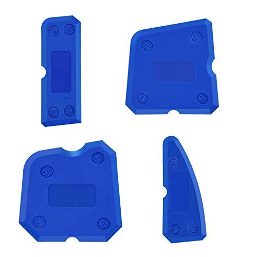 DRHOM Silikon Caulking Werkzeug Kit 4 Stück Silikon Dichtstoff Dichtungen für Arbeits Küche Küche Boden (Tippe A)