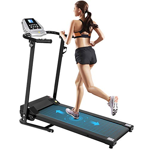 VOSAREA Tapis de Course Fitness sur Tapis Roulant 12 Programmes Vitesse Réglable Machine de Marche avec Moniteur LCD Tapis de Cours pour Une Utilisation à La Maison 3-5 Jours Arrivent