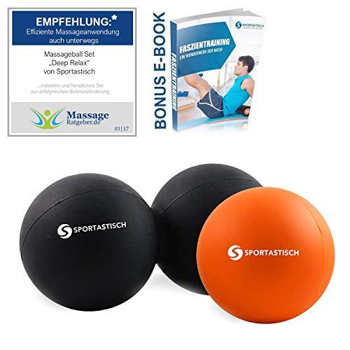 """Sportastisch Massageball Set """"Deep Relax"""", Faszienball Kombination aus Duoball &..."""