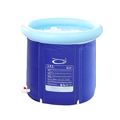 Aufblasbare Badewanne Badefass Haushaltsdicke Wanne Faltwanne Vollbad Mit Deckel 3 Größen (größe : 75cm)