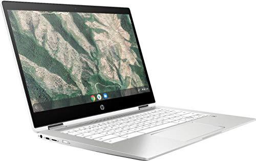 "HP Chromebook x360-14"" HD Touch - Celeron N4000-4GB - 32GB eMMC - Silver White"
