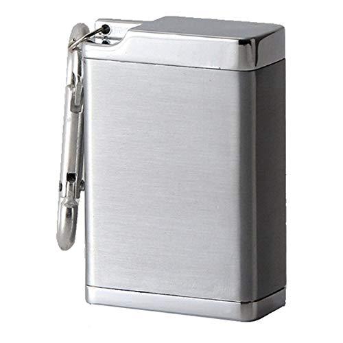 携帯灰皿 灰皿 アルミ 吸殻入れ おしゃれ 大容量 軽量 便利 防水 出かけ用 (シルバー)