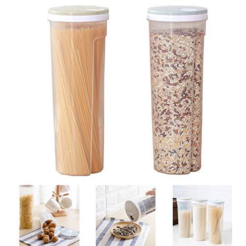 Tarros Para Bomboneras Juego De 2 Tarros Frasco De Espaguetis Con Tapa Hermético Transparente Cocina Recipientes Tarros De Cocina Para Guardar Alimentos Para Alimentos Para Almacenaje y Conservar