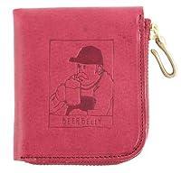 ビアベリー SMALL ROUND WALLET 二つ折り財布 BEERBELLY (パープル)
