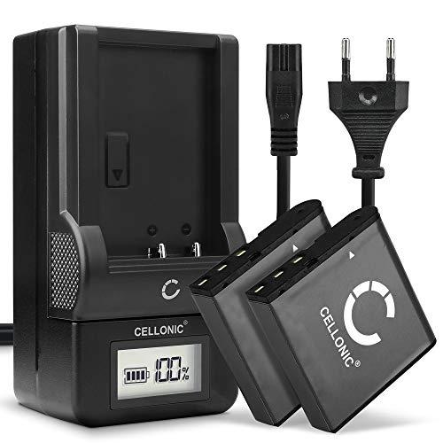 CELLONIC® 2x Batería de Repuesto LB-060 per Kodak PIXPRO AZ251 PIXPRO AZ361 AZ362 PIXPRO AZ421 AZ422 PIXPRO AZ501 AZ521 AZ522 AZ525 AZ526 AZ527 AZ528 1250mAh + Cargador Accu Sustitución Camara Battery