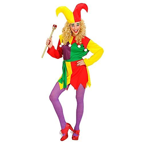 Widmann Déguisement bouffon arlequin Femme Multicolore