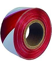 Everbuild EVB2BARRD500 - Cinta de balizamiento (72 mm x 500 m), color rojo y blanco