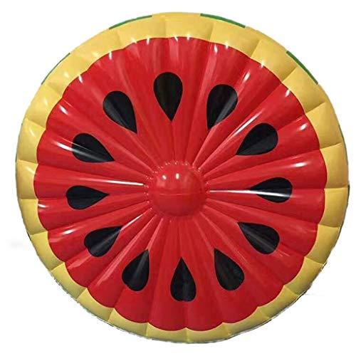 Licht Schwimmbad schwimmendes Bett Erwachsene Schwimmring Aufblasbare runde Wassermelone schwimmende Reihe halbkreisförmig schwimmende Luftbetten & Schlauchboote (Farbe: Wassermelone rot, Größe: 143 c