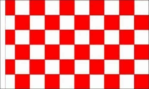 FlagSuperstore© Bootsflagge rot & weiß kariert, 45,7 x 30,5 cm, Baumhäuser, Wohnwagen, Ärmel 45 x 30 cm, kariert