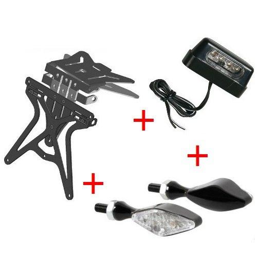 Support de plaque d'immatriculation pour moto universel Kit homologué + 2 flèches + lumière plaque d'immatriculation Lampa Ducati 888 SP 5 1992 – 1993