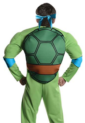 Rubie's Men's Teenage Mutant Ninja Turtles Deluxe Adult Muscle Chest Leonardo, Green, X-Large