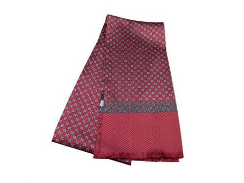 Avantgarde Sciarpa da giacca per uomo in seta tubolare bordeaux 160 sciarpe made Italy