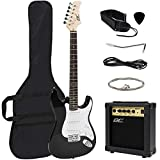 Best Choice Products 39in Full Size Beginner Electric Guitar Starter Kit w/Case,...