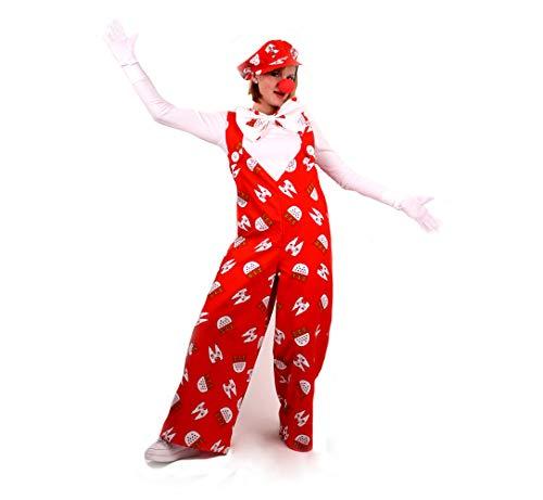 KarnevalsTeufel Latzhose Köln rot 1-TLG. Latzhose mit Köln Muster rot-weiß Clownhose für Erwachsene (Medium)