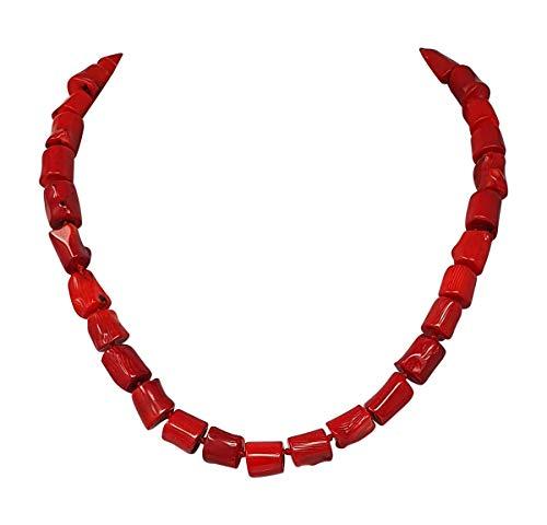 Halskette aus roter Koralle, 47cm, Karabinerverschluss, präsentiert in einer schönen Geschenkverpackung