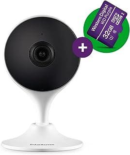 Câmera de Vídeo Interna Inteligente intelbras Wi-Fi Full HD iM3 c/ MicroSD 32GB Branca