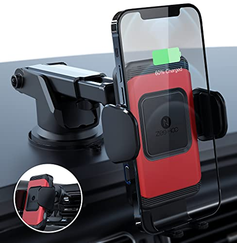 ZeeHoo Wireless Car Charger,10W Qi Fast Charging Auto-Clamping Car Mount,Windshield Dash Air...