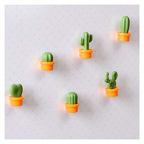 Xx101 Imán de refrigerador Moda Linda Mini 6pcs / Set Refrigerador Mensaje Etiqueta Etiqueta Suculenta Frigorífico Creativo Cactus Imanes (Color : Orange)
