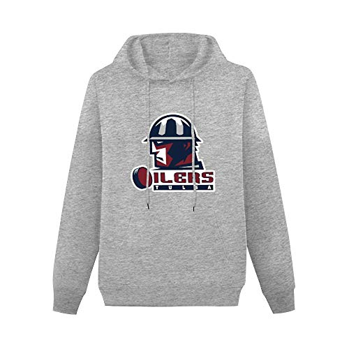 Tulsa Oilers ECHL Ice Hockey Logo Male's Hoody Gray S Gray S