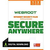 Webroot SecureAnywhere Internet Security & Virus Protection Software 2021 for 3 Devices + Identity Protection, Secure Web Browsing, Password Manager, iPhone & Android | 1 Year [Mac Download]