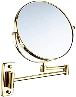 Makeup Vanity Mirror, Two-Sided Wall Mounted Beauty Mirror 3X Magnification Bathroom Mirror 360° Swivel Extendable Cosmetic Mirror,Silver_6inch, Bathroom