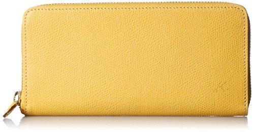 [キタムラ] 長財布 キズが目立ちにくい素材 PH0570 マスタード/アイボリーステッチ [黄色] 43911