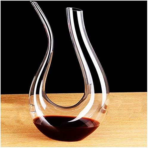 Decantador de vino de cristal hecho a mano, CAJA DE VINO, CAJA DE VINO DE VINO, CRISTAL DE CRISTAL DE VINOS, CRISTAL DE CRISTAL DE PLAZO, GRAN DE VINO MANO PARA CUMPLEAÑOS DÍA DE PADRES DE NAVIDAD, 6
