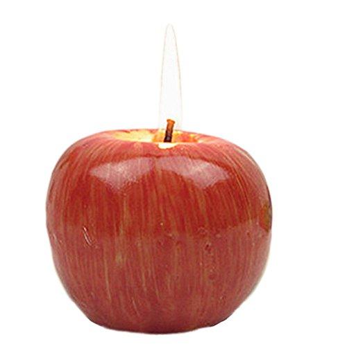 Outflower, Candela artigianale a forma di mela finta, ideale come regalo e decorazione di Natale, 3, 8*8*6.5CM