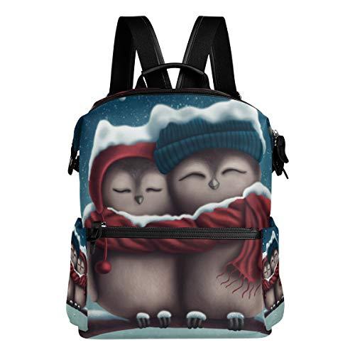 TIZORAX Little Snow Chouettes Sac à Dos d'école College Sacs Sac à Dos Bookbags pour Teen garçons Filles