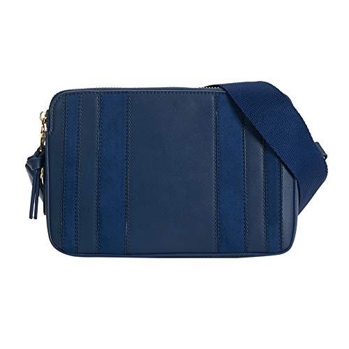 Parfois - Patchwork-Umhängetasche - Damen - Größe S - Marineblau