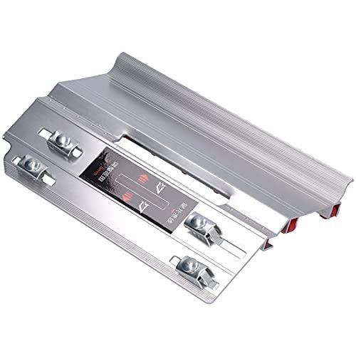 YWBL-WH Herramienta de Biselado de Azulejos Dispositivo de máquina cortadora de Esquinas de Metal de 45 Grados (250 x 170 mm / 9,8 x 6,7 Pulgadas) Plata