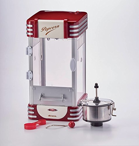 Ariete Party Time Máquina de palomitas XL, 310 W, 2.4 l, Inoxidable/Plastico, Rojo