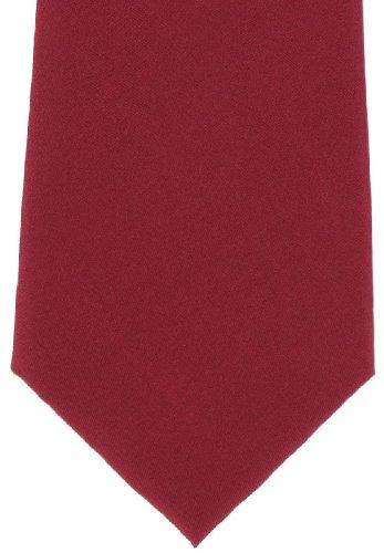Michelsons of London Cravate rouge uni en soie de