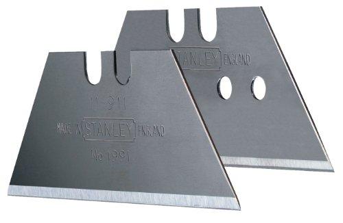 Stanley Trapezklingen 1991 (ohne Lochung, 0,45 mm Klingenstärke, 50 mm Klingenlänge, 10 Stück im Spender) 0-11-911