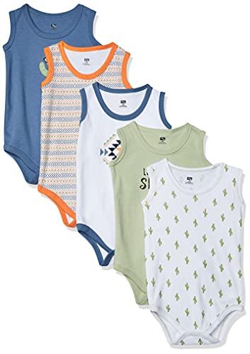 Hudson Baby Unisex Baby Cotton Sleeveless Bodysuits, Cactus, 3-6 Months
