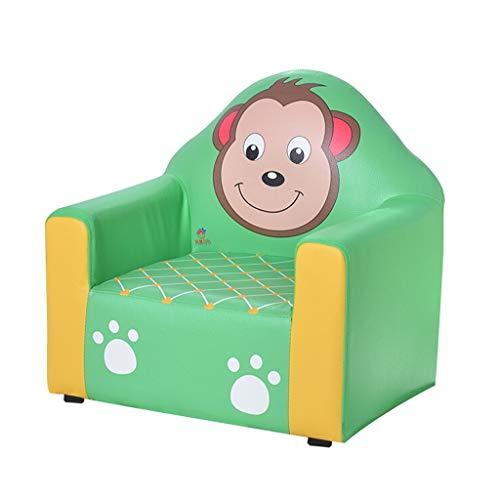 LIUYONGJUN Sillones Infantiles Niñas,Interiores Niña Y Niño Piel Sintética Sofá Infantil Verde