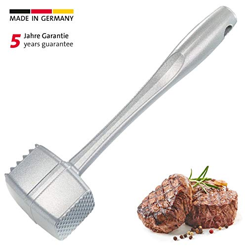 Westmark 62002260 Dual Sided Meat Tenderizer, 9.4 x 1.8 x 2.5 inches, Silver