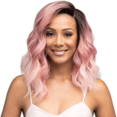 Bobbi Boss Premium Synthetic Swiss Lace Front Wig MLF322 Jaylen Full Bodied Wave in the Perfect Medium Length (1)
