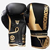 RGXY Kick Boxing Gloves para Hombres Mujeres Karate Muay Thai Guantes Fight Fighting Adultos,Oro,8OZ