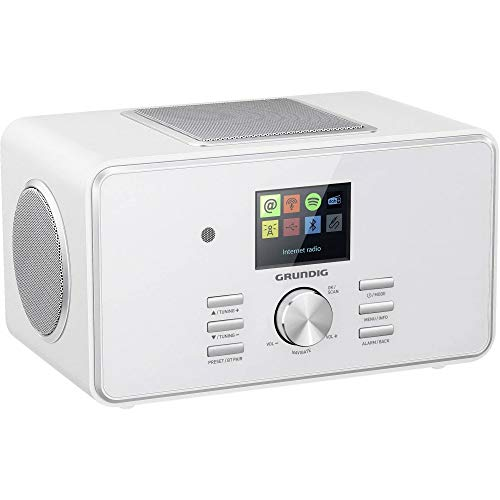 "Grundig DTR 6000 X All-In-One"" Radio, White, Weiß"