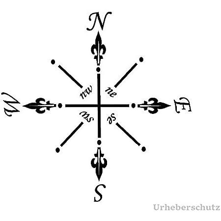 Generic Kompass Aufkleber In 20x20cm Oder 30x30cm Windrose Aufkleber Für Caravan Wohnmobil Wohnwagen Auto Oder Als Wand Tattoo 94 3 20x20cm Weiß Glanz Garten