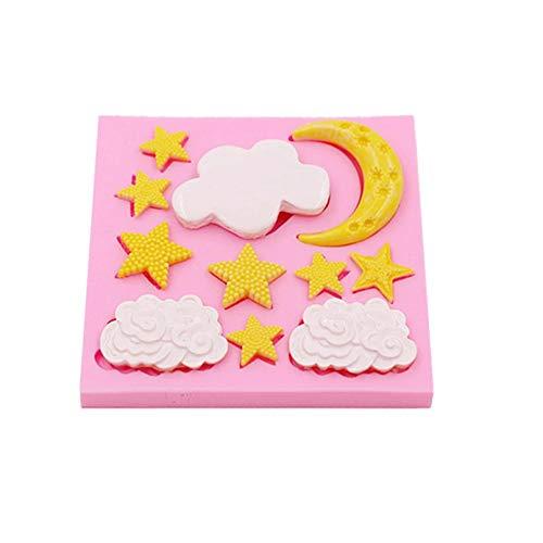 Clouds Star Moon Craze Cream Moldes De Silicona Flexibles Moldes De Chocolate Hechos A Mano...